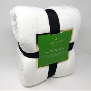 New Kate Spade NY Full/Queen White Fleece Blanket